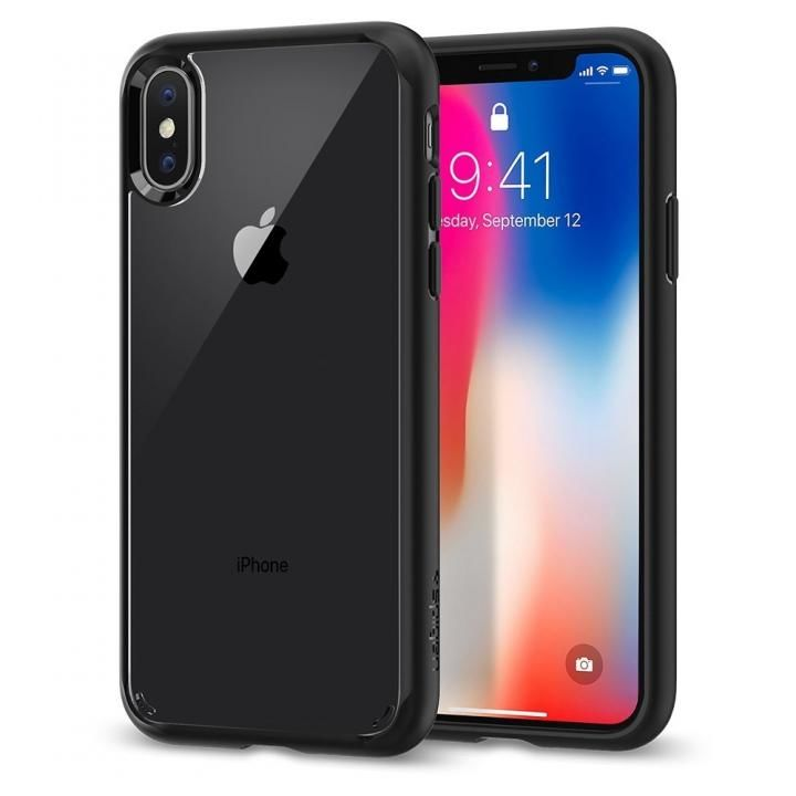 【iPhone Xケース】Spigen ウルトラハイブリッド マットブラック iPhone X_0