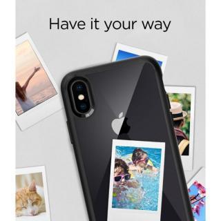 【iPhone Xケース】Spigen ウルトラハイブリッド マットブラック iPhone X_1