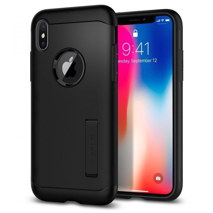 iPhone X ケース Spigen スリムアーマー ブラック iPhone X_0