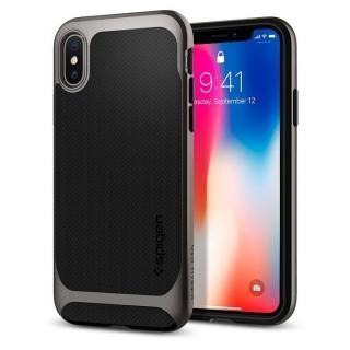 iPhone X ケース Spigen ネオハイブリッド ガンメタル iPhone X