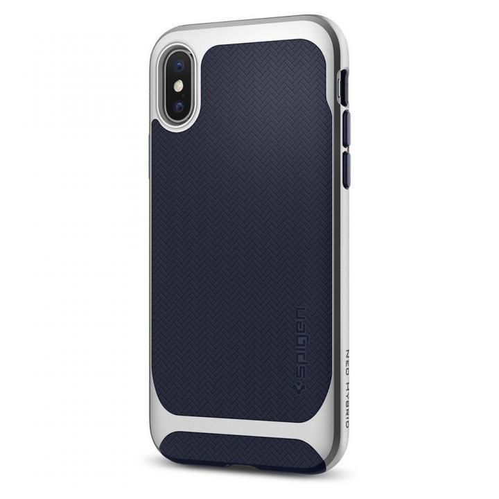 【iPhone Xケース】Spigen ネオハイブリッド シルバー iPhone X_0