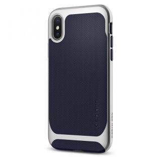 【iPhone X ケース】Spigen ネオハイブリッド シルバー iPhone X