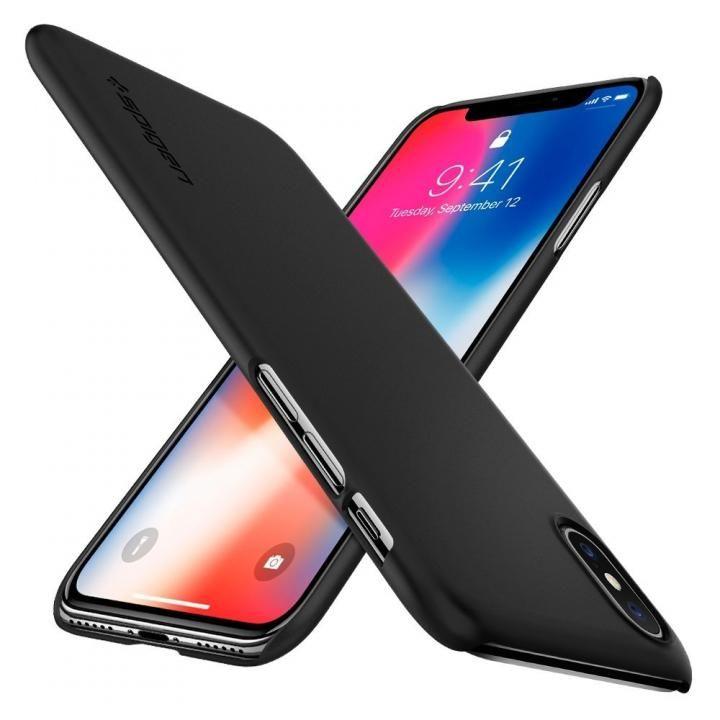 Spigen シンフィット マットブラック iPhone X
