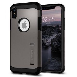 Spigen タフアーマー ガンメタル iPhone X
