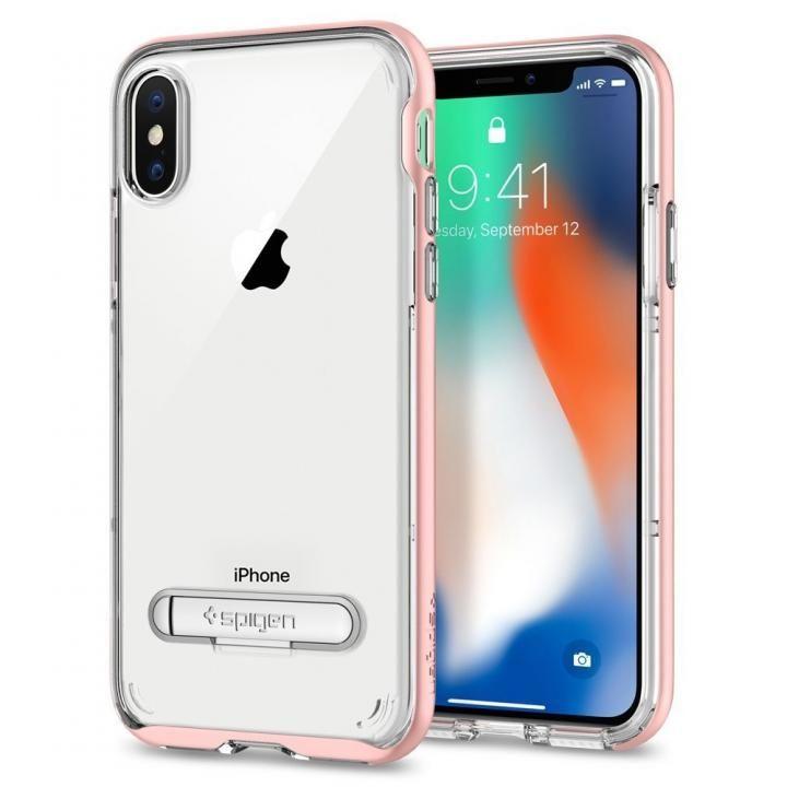 iPhone X ケース Spigen クリスタルハイブリッド ローズゴールド iPhone X_0