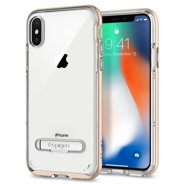 iPhone X ケース Spigen クリスタルハイブリッド シャンパンゴールド iPhone X_0