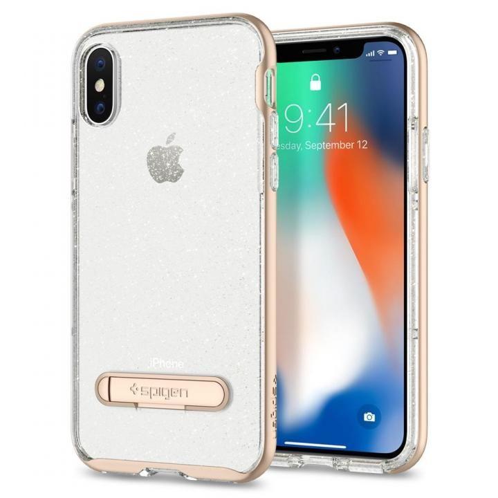 Spigen クリスタルハイブリッド グリッターゴールド iPhone X
