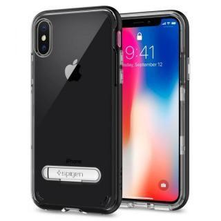 【iPhone Xケース】Spigen クリスタルハイブリッド ブラック iPhone X