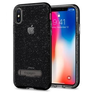 【iPhone Xケース】Spigen クリスタルハイブリッド グリッタースペース iPhone X