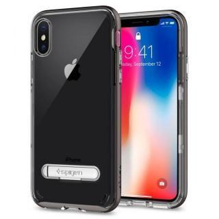 【iPhone Xケース】Spigen クリスタルハイブリッド ガンメタル iPhone X