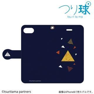 つり球 フリップケース ネイビー iPhone SE/5s/5