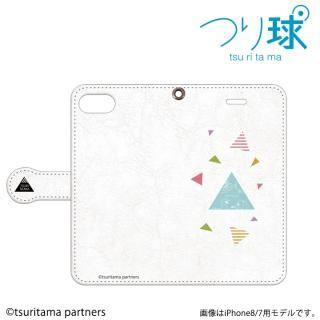 つり球 フリップケース オフホワイト iPhone SE/5s/5