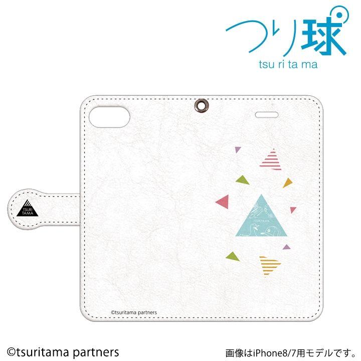 【iPhone8 Plus/7 Plusケース】つり球 フリップケース オフホワイト iPhone 8 Plus / 7 Plus_0