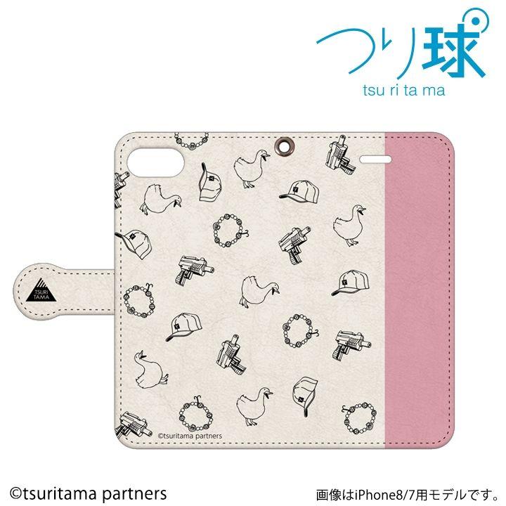 つり球 フリップケース ベージュ/モスキーピンク iPhone 6s / 6【2月上旬】