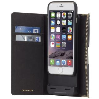 iPhone6s/6 ケース [3500mAh]バッテリー内蔵本革手帳型ケース Rebecca Minkoff ブラック iPhone 6s/6