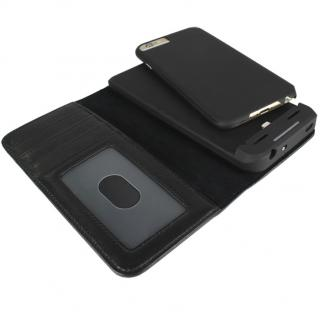 【iPhone6s/6ケース】[3500mAh]バッテリー内蔵本革手帳型ケース ブラック iPhone 6s/6_4