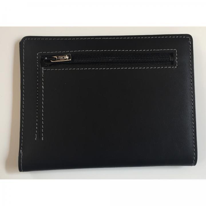 カードをたくさん入れても薄い財布NEXT 小銭入れ付き ブラック_0