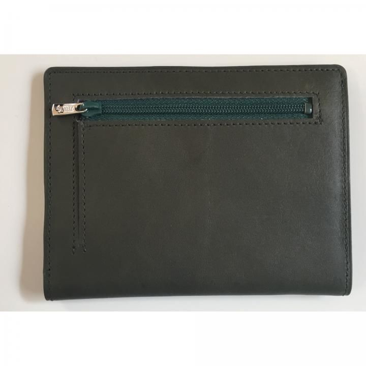 カードをたくさん入れても薄い財布NEXT 小銭入れ付き ダークグリーン【3月上旬】_0
