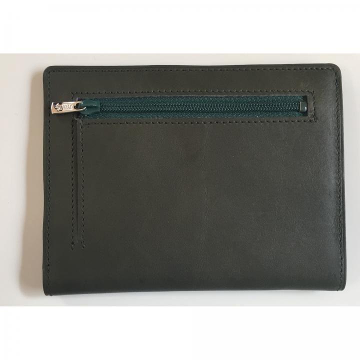 カードをたくさん入れても薄い財布NEXT 小銭入れ付き ダークグリーン_0