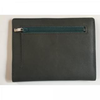 カードをたくさん入れても薄い財布NEXT 小銭入れ付き ダークグリーン