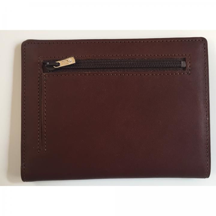 カードをたくさん入れても薄い財布NEXT 小銭入れ付き チョコ_0