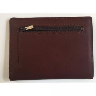 カードをたくさん入れても薄い財布NEXT 小銭入れ付き チョコ