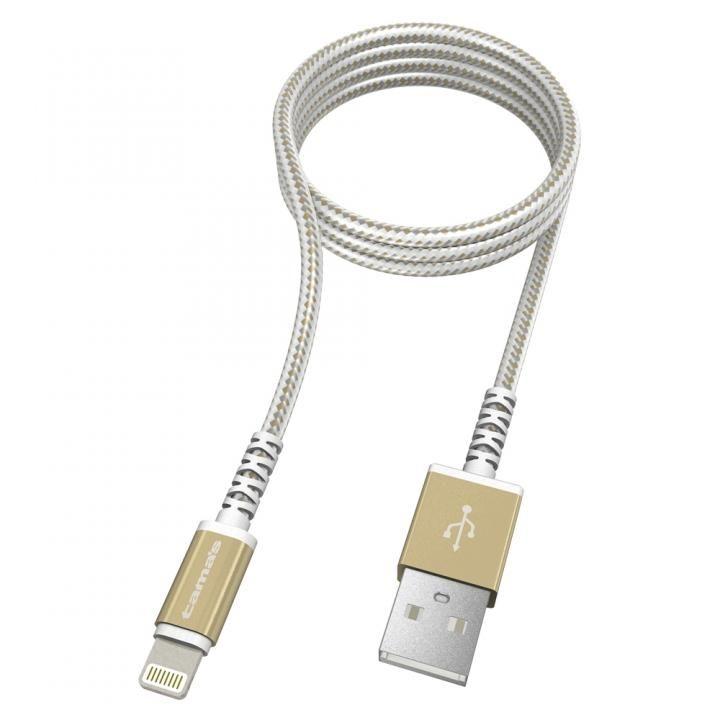 Lightning  USBケーブル メタル ゴールド