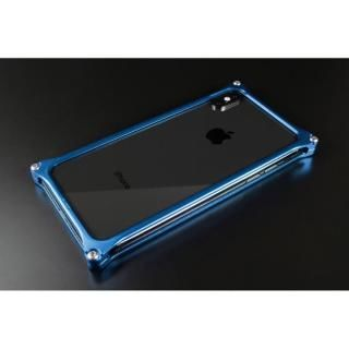 ギルドデザイン ソリッドバンパー  ブルー iPhoneX【2018年2月上旬】