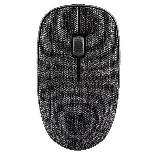 Rapoo 3510 Plus 布張り仕上げ 3ボタン薄型ワイヤレスマウス ダークブラック_0