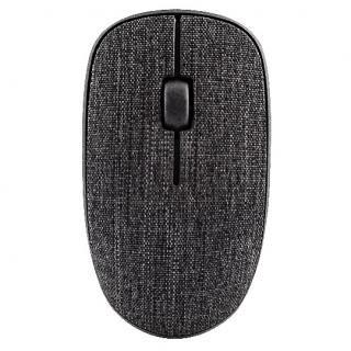 Rapoo 3510 Plus 布張り仕上げ 3ボタン薄型ワイヤレスマウス ダークブラック【11月下旬】