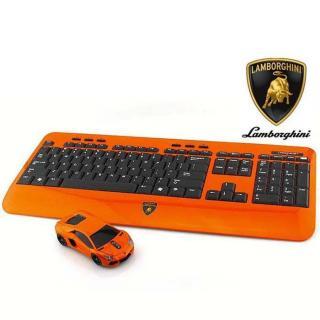 Lamborghini LP700 2.4G無線マウス+キーボード オレンジ
