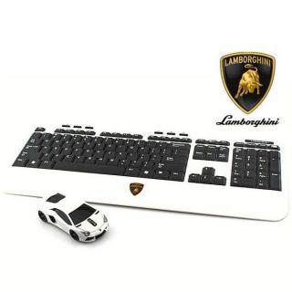 Lamborghini LP700 2.4G無線マウス+キーボード ホワイト【12月中旬】
