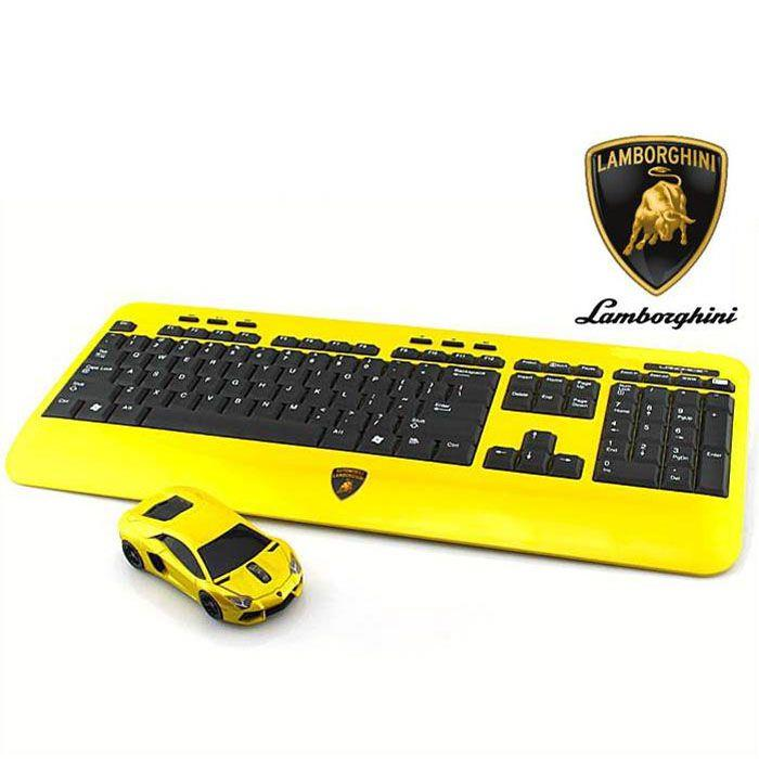 Lamborghini LP700 2.4G無線マウス+キーボード イエロー_0