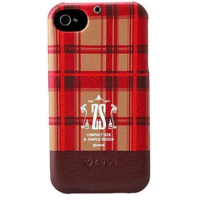 iPhone 4/4s Check Print Bar Series  PUMPKIN RED_0