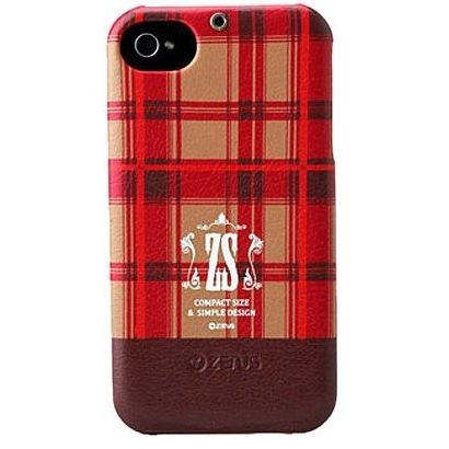 iPhone 4/4s Check Print Bar Series  PUMPKIN RED_0