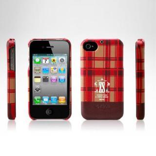iPhone 4/4s Check Print Bar Series  PUMPKIN RED_1