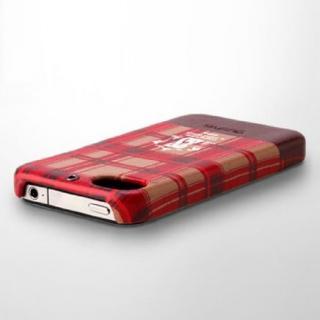 iPhone 4/4s Check Print Bar Series  PUMPKIN RED_2