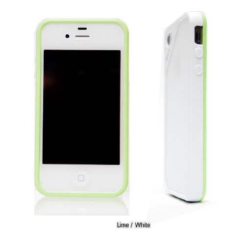 iPhone 4/4s Air Bumper Mask  LIME-WHITE