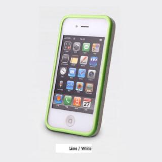 iPhone 4/4s Air Bumper Mask  LIME-WHITE_3