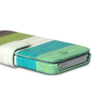 【iPhone SE/5s/5ケース】iPhone5s/5 手帳型ケース Prestige Eel Leather Diary  Multi Green_1