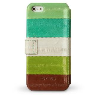 【iPhone SE/5s/5ケース】iPhone5s/5 手帳型ケース Prestige Eel Leather Diary  Multi Green_2