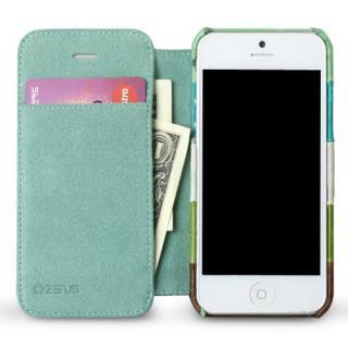 【iPhone SE/5s/5ケース】iPhone5s/5 手帳型ケース Prestige Eel Leather Diary  Multi Green_3
