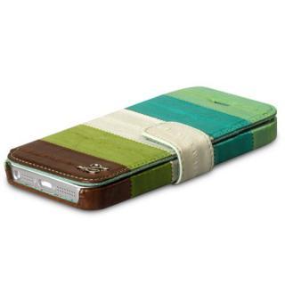 【iPhone SE/5s/5ケース】iPhone5s/5 手帳型ケース Prestige Eel Leather Diary  Multi Green_4