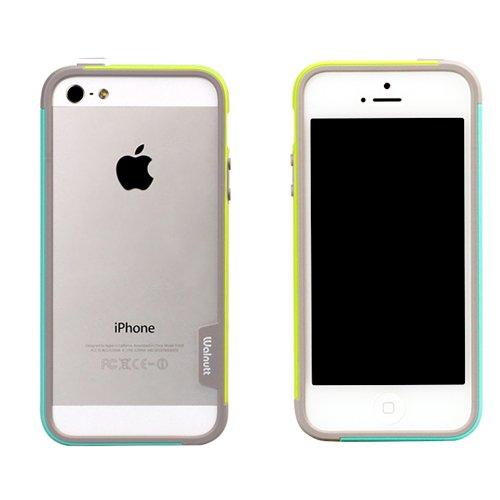 【iPhone SE/5s/5ケース】iPhone SE/5s/5 Bumper Trio case グリーン+ミント_0