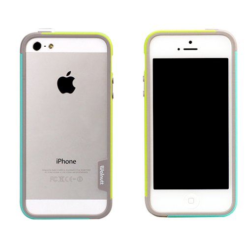 iPhone SE/5s/5 ケース iPhone SE/5s/5 Bumper Trio case グリーン+ミント_0