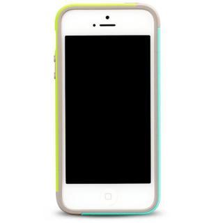 【iPhone SE/5s/5ケース】iPhone SE/5s/5 Bumper Trio case グリーン+ミント_2