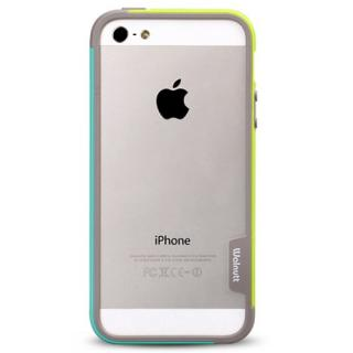 【iPhone SE/5s/5ケース】iPhone SE/5s/5 Bumper Trio case グリーン+ミント_3
