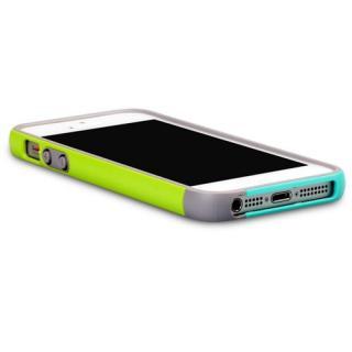 【iPhone SE/5s/5ケース】iPhone SE/5s/5 Bumper Trio case グリーン+ミント_4