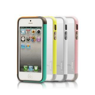 【iPhone SE/5s/5ケース】iPhone SE/5s/5 Bumper Trio case グリーン+ミント_5