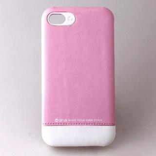 iPhone4s/4 Leather Bar White/Pink